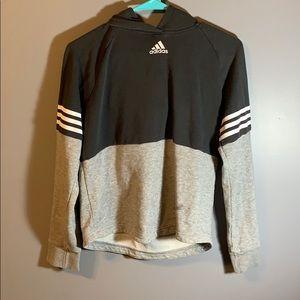 grey and black adias hoodie